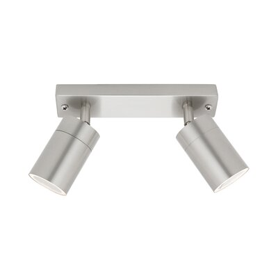 Cougar Lighting Oslo Twin GU10 Spotlights in 316 Stainless Steel