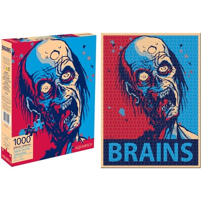 NMR Distribution Zombie Brains 1000 Piece Jigsaw Puzzle