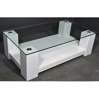 By Designs Black Winnie Rectangular Coffee Table in High Gloss Black