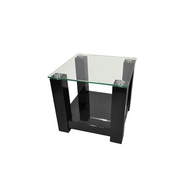 By Designs Black Winnie Side Table in High Gloss Black