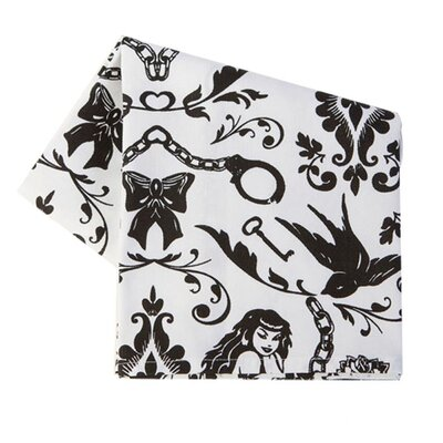 Ravens Dream Dish Towel in Black and White