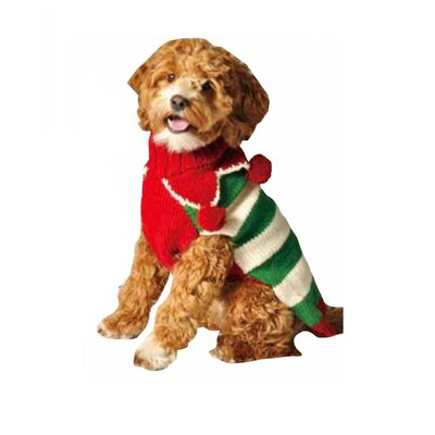Chilly Dog Christmas Elf Dog Sweater