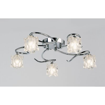 Endon Lighting Picado Semi Flush Mount in Chrome