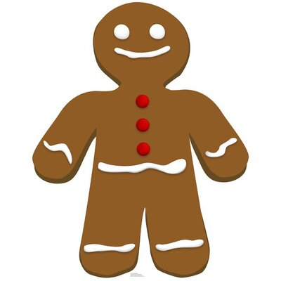 Advanced Graphics Gingerbread Man Cardboard Stand-Up