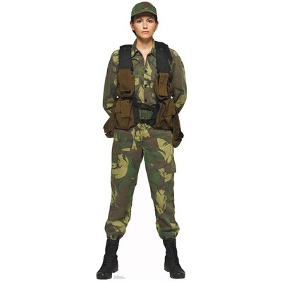 Advanced Graphics Female Solider Cardboard Stand-Up