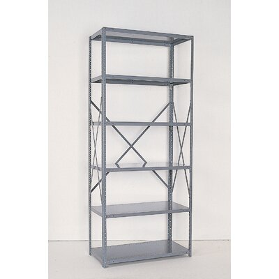 "Republic Industrial Clip Open 85"" H 6 Shelf Shelving Unit Starter"