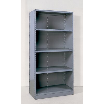 Republic Industrial Clip Closed Shelving: Angle Post Units with 5 Shelves; Starter Unit