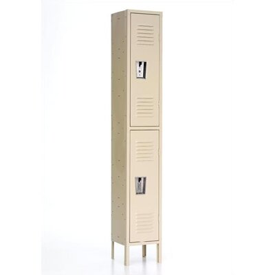 Republic Quick Ship: Standard Locker - Double Tier - 1 Section (Unassembled)