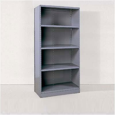 Republic Industrial Clip Closed Shelving: Angle Post Units with 5 Shelves; Adder Unit