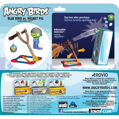 K'NEX Angry Birds Blue Bird and Helmet Pig Building Set