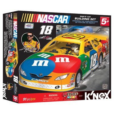 K'NEX NASCAR M and M's Car Building Set