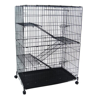 YML 4 Levels Small Animal Cage in Black