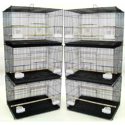 YML Lot of Six Small Bird Breeding Cages
