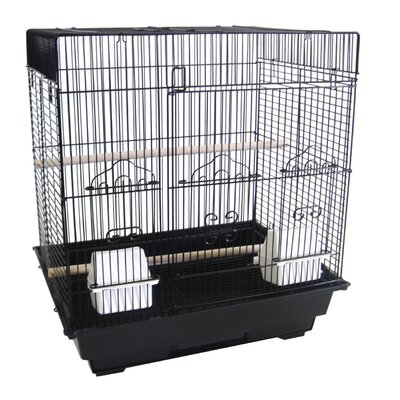 "YML 3/8"" Bar Spacing Square Top Small Bird Cage"