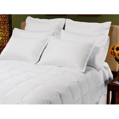 "Down Inc. 8"" Sewn-Thru Boxstitch Lightweight Snow White Down Comforter"