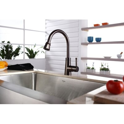 "Kraus Farmhouse 33"" Kitchen Sink with Faucet and Soap Dispenser"