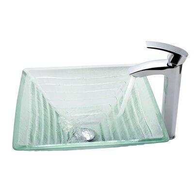 Alexandrite Vessel Bathroom Sink with Faucet - C-GVS-910-15mm-1810CH