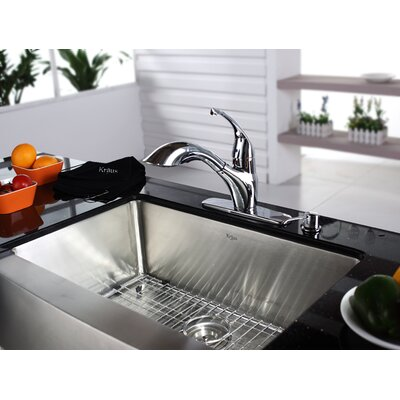 "Kraus 29.75"" x 20"" Farmhouse Kitchen Sink"