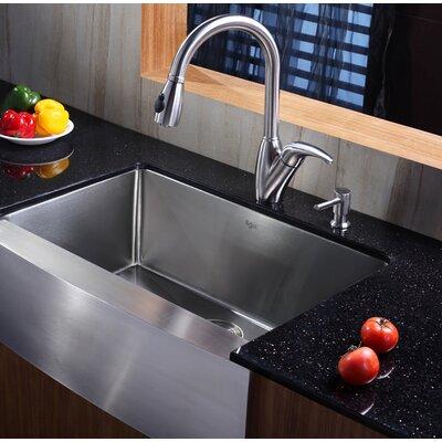 """Kraus 29"""" x 20"""" Farmhouse Kitchen Sink & Reviews"""