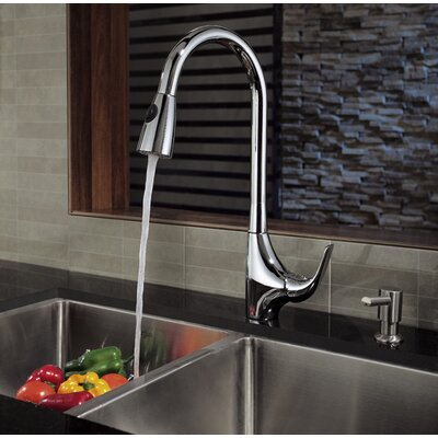 Kraus Single Handle Single Hole Kitchen Faucet with Lever Handle