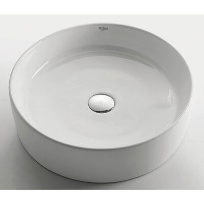 Kraus Ceramic Round Bathroom Sink