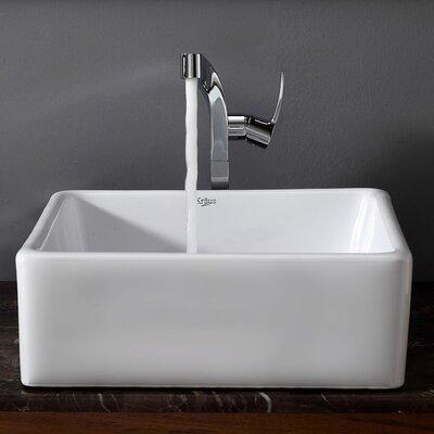 Kraus Bathroom Combos Single Hole Waterfall Typhon Faucet and Bathroom Sink