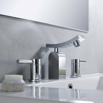 Bathroom Combos Widespread Waterfall Unicus Faucet with Double Handles - KEF-14303-PU11CH