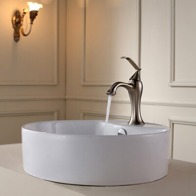 Kraus Bathroom Combos Single Hole Ventus Faucet with Single Handle