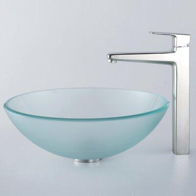 Kraus Glass Vessel Sink and Aldo Faucet