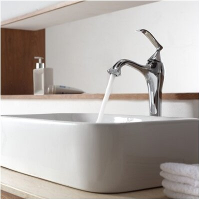 Bathroom Combos Bathroom Sink with Single Handle Single Hole Ventus Faucet - C-KCV-122-15000CH