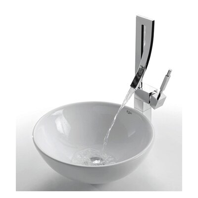 Ceramic Round Vessel Bathroom Sink - KCV-141
