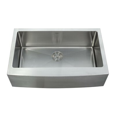 "Kraus 33"" x 20.75"" Farmhouse Kitchen Sink with Faucet and Soap Dispenser"