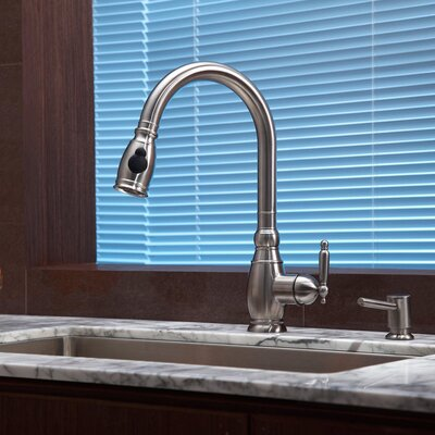 "Kraus Stainless Steel 30"" x 18"" Undermount Single Bowl Kitchen Sink with Faucet and Soap Dispenser"