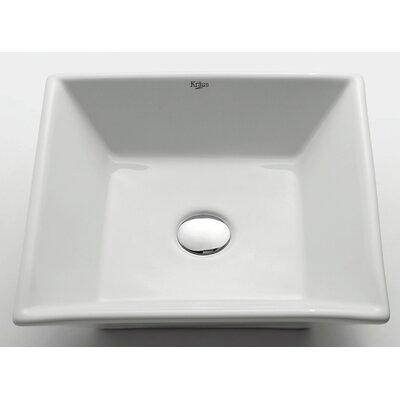 Kraus Ceramic Square Vessel Bathroom Sink