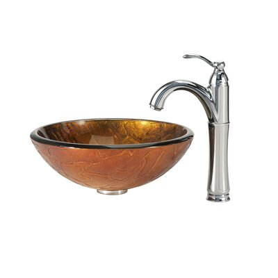 Triton Vessel Sink with Riviera Faucet - C-GV-690-19mm-1005