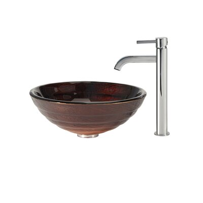 Iris Vessel Sink with Ramus Faucet - C-GV-693-19mm-1007CH / C-GV-693-19mm-1007SN