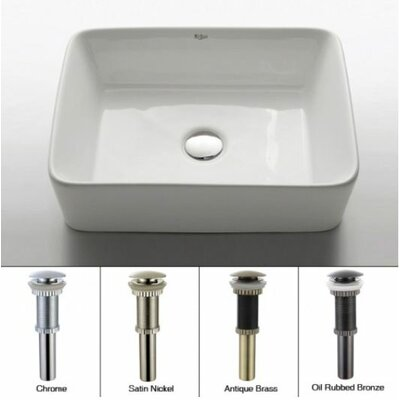 Ceramic Rectangular Vessel Bathroom Sink - KCV-121