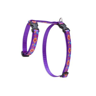 "Lupine Pet Go Go Gecko 1/2"" Adjustable H-Style Cat Harness"