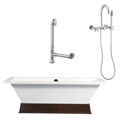 Giagni Tella Contemporary Bathtub and Wall Mount Faucet