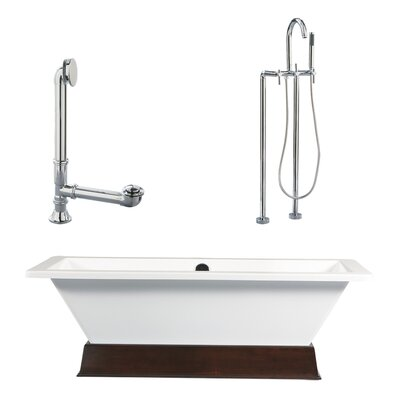 "Giagni Tella 66"" x 29"" Contemporary Bathtub"
