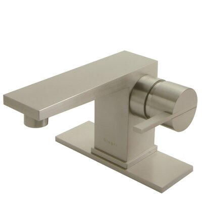 Square Single Hole Bathroom Faucet with Single Handle - ML1-BN