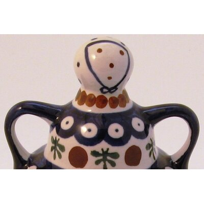 Euroquest Imports Polish Pottery Butter Lady Covered Butter Dish