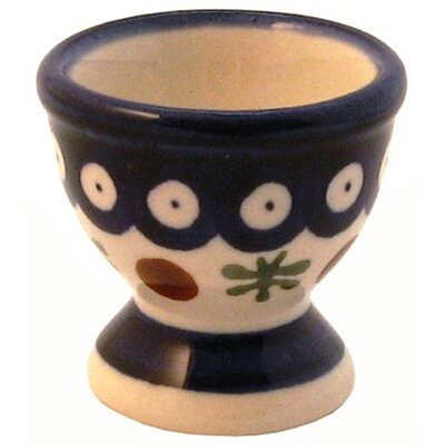 "Euroquest Imports Polish Pottery 2"" Egg Cup - Pattern 41A"