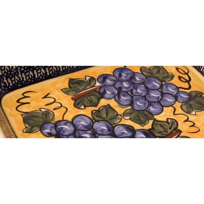 "Euroquest Imports Polish Pottery 10""  Rectangular Baking Pan - Pattern DU8"