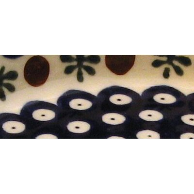 "Euroquest Imports Polish Pottery 6"" Oval Baking Pan - Pattern 41A"