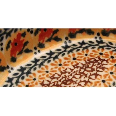 "Euroquest Imports Polish Pottery 6"" Oval Baking Pan - Pattern DU70"
