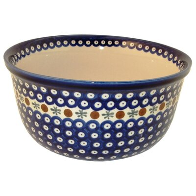 Euroquest Imports Polish Pottery 10.5&quot;  Kitchen Bowl -
