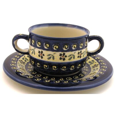 Euroquest Imports Polish Pottery 8.75 oz. Consommé Bowl