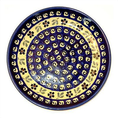 "Euroquest Imports Polish Pottery Pattern 175A 11"" Dinner Plate"