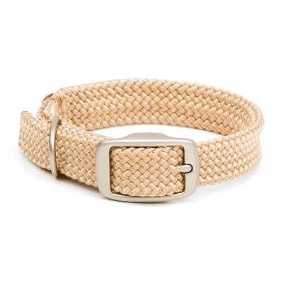 Mendota Double Braid Collar in Sand / Brushed Nickel Hardware